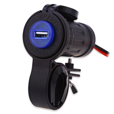 C944 - 60L - Z Single USB Socket with Mount Blue Indicator