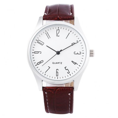 Fashion Unisex Quartz WatchUnisex Watches<br>Fashion Unisex Quartz Watch<br><br>Band Length: 8.13 inch<br>Band Material Type: Leather<br>Band Width: 18mm<br>Case material: Alloy<br>Case Shape: Round<br>Clasp type: Pin Buckle<br>Dial Diameter: 1.65 inch<br>Dial Display: Analog<br>Dial Window Material Type: Glass<br>Gender: Men,Women<br>Movement: Quartz<br>Style: Simple<br>Product weight: 0.038 kg<br>Package weight: 0.059 kg<br>Product Size(L x W x H): 25.00 x 4.30 x 0.90 cm / 9.84 x 1.69 x 0.35 inches<br>Package Size(L x W x H): 26.00 x 5.30 x 1.90 cm / 10.24 x 2.09 x 0.75 inches<br>Package Contents: 1 x Unisex Quartz Watch