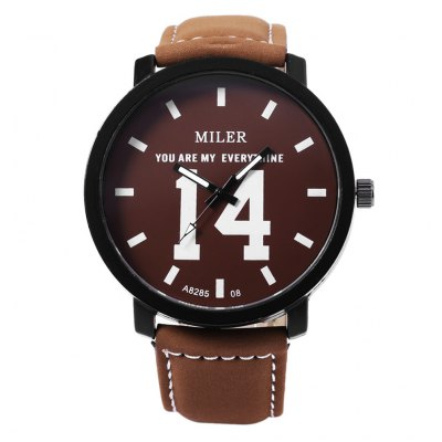 MILER A8285 Unisex Quartz WatchUnisex Watches<br>MILER A8285 Unisex Quartz Watch<br><br>Band Length: 7.89 inch<br>Band Material Type: Leather<br>Band Width: 20mm<br>Case material: Alloy<br>Case Shape: Round<br>Clasp type: Pin Buckle<br>Dial Diameter: 1.85 inch<br>Dial Display: Analog<br>Dial Window Material Type: Glass<br>Feature: Luminous<br>Gender: Men,Women<br>Movement: Quartz<br>Style: Simple<br>Product weight: 0.047 kg<br>Package weight: 0.068 kg<br>Product Size(L x W x H): 25.00 x 4.80 x 1.00 cm / 9.84 x 1.89 x 0.39 inches<br>Package Size(L x W x H): 26.00 x 5.80 x 2.00 cm / 10.24 x 2.28 x 0.79 inches<br>Package Contents: 1 x MILER A8285 Unisex Quartz Watch