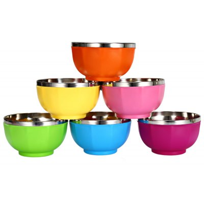 6pcs Candy Color Bowl Set