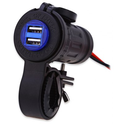 C946 - 60L - Z Two USB Socket with Mount Blue Indicator