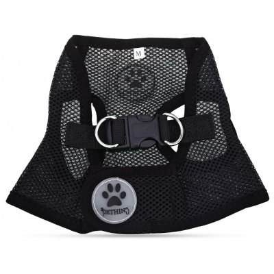 Pething Pet Harness Mesh Cloth Dog Collar Chest Leash