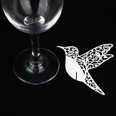 50pcs Table Paper Wine Glass Place Card