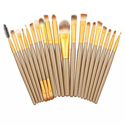 20 Eye Makeup Brushes Set Cosmetic Pink Storage Cylinder ToolMakeup Brushes &amp; Tools<br>20 Eye Makeup Brushes Set Cosmetic Pink Storage Cylinder Tool<br><br>Item Type: Makeup Tool Kits<br>Materials: Satin,Synthetic Leather,Wool<br>Product weight: 0.270 kg<br>Package weight: 0.314 kg<br>Product size (L x W x H): 18.00 x 6.00 x 6.00 cm / 7.09 x 2.36 x 2.36 inches<br>Package size (L x W x H): 18.50 x 6.50 x 6.50 cm / 7.28 x 2.56 x 2.56 inches<br>Package Content: 1 x Makeup Brushes Golden Chicken Lines Accommodating Cylinder, 20 x Eye Makeup Brushes