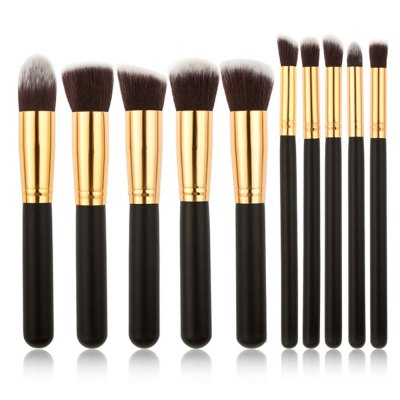 10pcs Lady Cosmetic Brushes with Storage BoxMakeup Brushes &amp; Tools<br>10pcs Lady Cosmetic Brushes with Storage Box<br><br>Item Type: Makeup Tool Kits<br>Materials: PU<br>Product weight: 0.230 kg<br>Package weight: 0.275 kg<br>Product size (L x W x H): 8.50 x 8.50 x 8.00 cm / 3.35 x 3.35 x 3.15 inches<br>Package size (L x W x H): 9.50 x 9.50 x 9.00 cm / 3.74 x 3.74 x 3.54 inches<br>Package Content: 1 x Makeup Brush Container, 10 x Makeup Brush