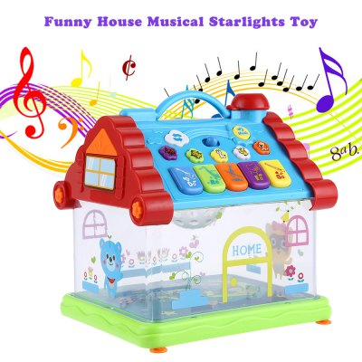 KUNSHENG Musical House Piano Electric Starlights Kids Early Intelligent Gift Toy