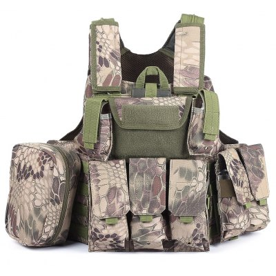 Military Tactical Battle Molle Bullet Assault Plate Carrier Vest
