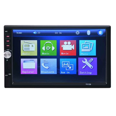 7012B 7 Inch Bluetooth V2.0 Car Audio with Rearview Camera