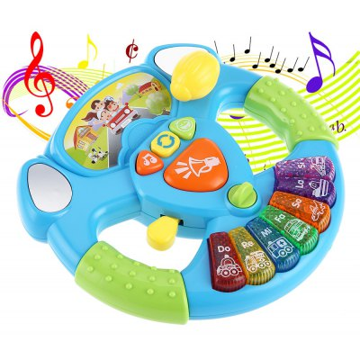 KUNSHENG Multi-function Steering Wheel Kids Intelligent Toy