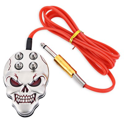 Skull Tattoo Machine Power Supply Foot Pedal Switch