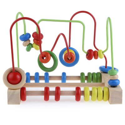 Wooden Around Beads Educational Game Toys