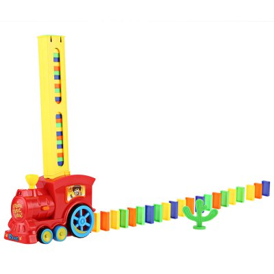 Domino Rally Train Toy Set Ideal Birthday Gift