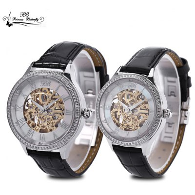 Princess Butterfly HL587 Couple Auto Mechanical Watch