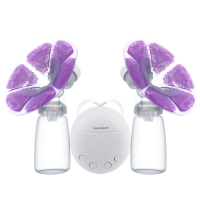 Double Intelligent Microcomputer USB Electric Breast Pump with Milk Bottle Cold Heat Pad