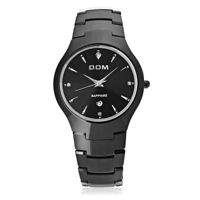 DOM 698 Men Quartz WatchMens Watches<br>DOM 698 Men Quartz Watch<br><br>Band Length: 7.87 inch<br>Band Material Type: Tungsten steel<br>Band Width: 20mm<br>Case material: Tungsten steel<br>Case Shape: Round<br>Clasp type: Butterfly Clasp<br>Dial Diameter: 1.5 inch<br>Dial Display: Analog<br>Dial Window Material Type: Sapphire<br>Feature: Date<br>Gender: Men<br>Movement: Quartz<br>Style: Business<br>Water Resistance Depth: 200m<br>Product weight: 0.142 kg<br>Package weight: 0.268 kg<br>Product Size(L x W x H): 20.00 x 4.00 x 0.80 cm / 7.87 x 1.57 x 0.31 inches<br>Package Size(L x W x H): 9.50 x 7.00 x 6.00 cm / 3.74 x 2.76 x 2.36 inches<br>Package Contents: 1 x DOM 698 Male Quartz Watch, 1 x Cloth, 1 x Screwdriver, 1 x Bilingual Manual in English and Chinese, 1 x Pen