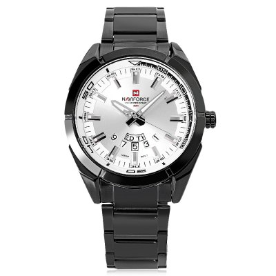 Naviforce NF9038M Male Quartz WatchMens Watches<br>Naviforce NF9038M Male Quartz Watch<br><br>Band Length: 8.66 inch<br>Band Material Type: Stainless Steel<br>Band Width: 20mm<br>Case material: Alloy<br>Case Shape: Round<br>Clasp type: Folding Clasp<br>Dial Diameter: 1.73 inch<br>Dial Display: Analog<br>Dial Window Material Type: Hardlex<br>Feature: Date,Day,Luminous<br>Gender: Men<br>Movement: Quartz<br>Style: Business<br>Water Resistance Depth: 30m<br>Product weight: 0.120 kg<br>Package weight: 0.142 kg<br>Product Size(L x W x H): 22.00 x 5.00 x 1.00 cm / 8.66 x 1.97 x 0.39 inches<br>Package Size(L x W x H): 12.00 x 6.00 x 2.00 cm / 4.72 x 2.36 x 0.79 inches<br>Package Contents: 1 x Naviforce NF9038M Male Quartz Watch