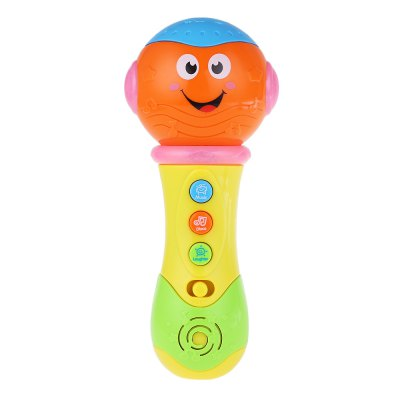 Musical Flashing Projection Microphone Toy