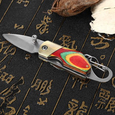 Survival Pocket Knife with Key Chain Emergency Kit
