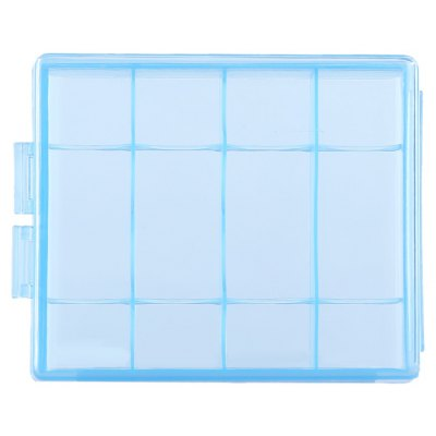 Plastic Transparent AA / AAA Battery Case Holder
