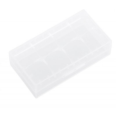 Plastic Transparent Case Holder for 2 x 18650 Battery