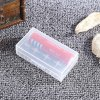 Plastic Transparent Case Holder for 2 x 18650 Battery photo