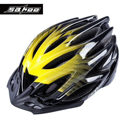 SAHOO Adult Safety Bicycle Semi-gloss Vents Helmet with Visor