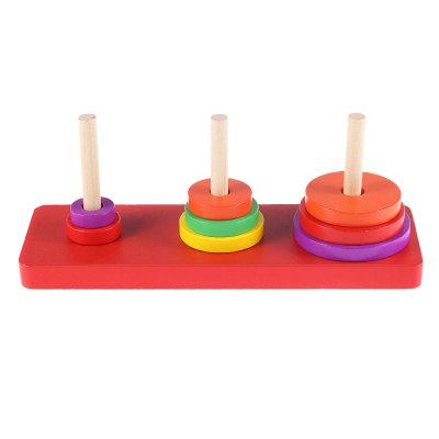 Kids Funny Creative Wooden Tower of Hanoi Puzzle Toy