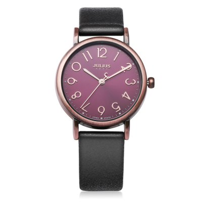 JULIUS JA - 911 Women Quartz WatchWomens Watches<br>JULIUS JA - 911 Women Quartz Watch<br><br>Band Length: 7.48 inch<br>Band Material Type: Genuine Leather<br>Band Width: 16mm<br>Case material: Alloy<br>Case Shape: Round<br>Clasp type: Pin Buckle<br>Dial Diameter: 1.18 inch<br>Dial Display: Analog<br>Dial Window Material Type: Hardlex<br>Gender: Women<br>Movement: Quartz<br>Package Contents: 1 x JULIUS JA - 911 Women Quartz Watch<br>Package Size(L x W x H): 8.50 x 8.50 x 7.00 cm / 3.35 x 3.35 x 2.76 inches<br>Package weight: 0.135 kg<br>Product Size(L x W x H): 23.00 x 3.50 x 0.80 cm / 9.06 x 1.38 x 0.31 inches<br>Product weight: 0.025 kg<br>Style: Simple<br>Water Resistance Depth: 30m