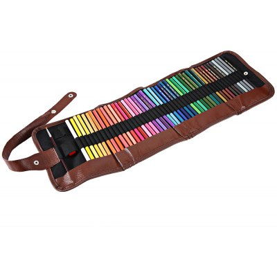 48 Color Wooden Craft Water Soluble Drawing Pencil Kit