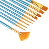 cheap 10pcs Blue Nylon Wool Drawing Brush Pen Painting Nail