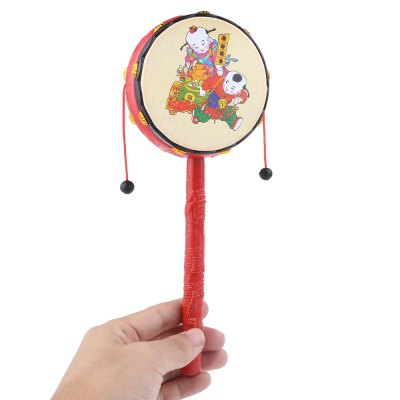 Hand Bell Chinese Traditional Rattle Toy