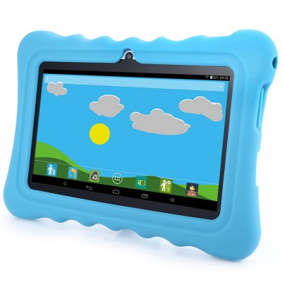 GBtiger L701 Android 4.4 Kids Tablet PCFeatured Tablets<br>GBtiger L701 Android 4.4 Kids Tablet PC<br><br>Cell Capacity: 2200mAh<br>Display resolution: 1024x600<br>Extend Port: DC Jack,Earphone Jack,Micro USB,TF card<br>Feature: Dual Cameras,Ultra Slim<br>Google Play: Yes<br>Memory Capacity: 512MB<br>Network Communiction: Bluetooth,WiFi<br>Operating system: Android 4.4<br>Processor Main Frequency: Quad Core<br>Processor Manufacture: Allwinner<br>Processor Model: A33<br>Tablet Data Capacity: 8GB<br>Touch Screen Type: Capacitive Screen<br>Product weight: 0.276 kg<br>Package weight: 0.931 kg<br>Product Size(L x W x H): 18.40 x 12.20 x 0.90 cm / 7.24 x 4.8 x 0.35 inches<br>Package Size(L x W x H): 27.00 x 19.50 x 3.50 cm / 10.63 x 7.68 x 1.38 inches<br>Package Contents: 1 x Tablet PC, 1 x USB Cable, 1 x Power Adapter, 1 x Protection Cover