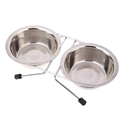 Stainless Steel Pet Double Diner Bowl