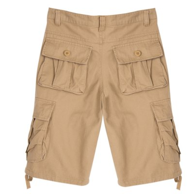 Multi-Pocket Zipper Design Men Casual Shorts