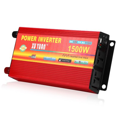XUYUAN 1500W Power Inverter DC 12V AC 110V Converter