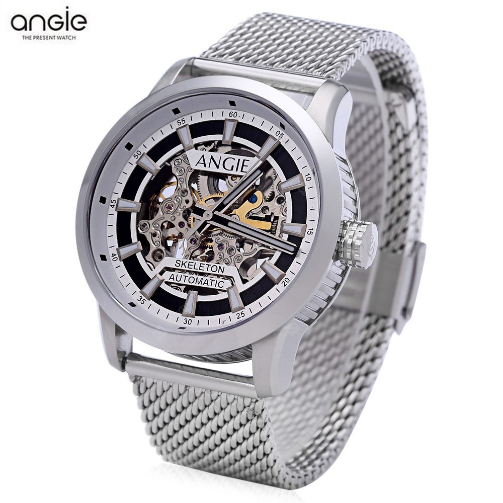 Angie ST7194 Fearless Series Male Auto Mechanical Watch WHITE