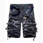 Camouflage Pocket Design Zipper Fly Men Casual Shorts