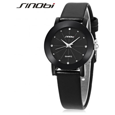 SINOBI 981 Ladies Leather Quartz Watch
