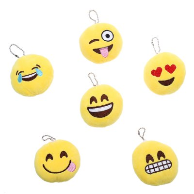 10pcs Emotion Smiley Cushion Plush Toy