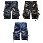 cheap Camouflage Pocket Design Zipper Fly Men Casual Shorts