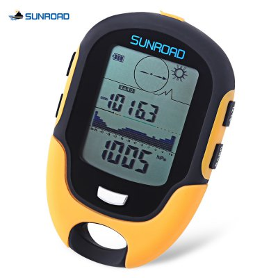 SUNROAD Outdoor Multifunctional Waterproof LCD Digital Compass Barometer Altimeter