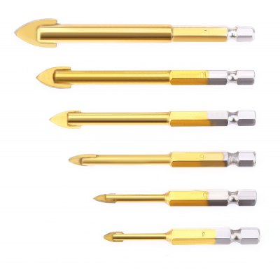 6pcs 4MM - 12MM Titanize Coated Drill Tapper