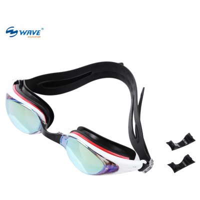 WAVE Professional Water Resistant Anti-fog Swimming Glasses Eyeglasses Goggles with Box