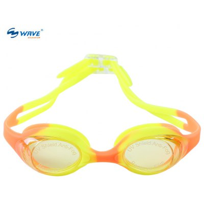 WAVE Children Adjustable Silicone Water Resistant Anti Fog UV Shield Swimming Glasses Eyewear Goggles Eyeglasses with Ba
