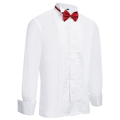 Bow Tie Turn-down Collar Men French Tuxedo ShirtMens Shirts<br>Bow Tie Turn-down Collar Men French Tuxedo Shirt<br><br>Collar: Turn-down Collar<br>Fabric Type: Broadcloth<br>Material: Cotton Blends, Polyester<br>Package Contents: 1 x Shirt<br>Shirts Type: Casual Shirts<br>Sleeve Length: Full<br>Weight: 0.4190kg