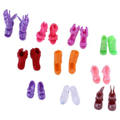 10 Pairs Baby Doll Shoes Toy