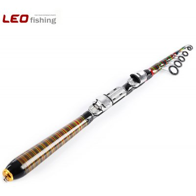 LEO Portable Multifunctional Fishing Pole Mini Fishing Rod