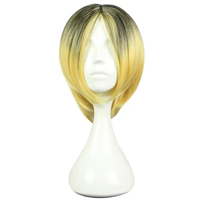 Haikyuu Gradient Flaxen Wigs Hair Cosplay Party