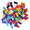 100pcs Kids Bright Colored Wooden Tumbling Domino Toy photo
