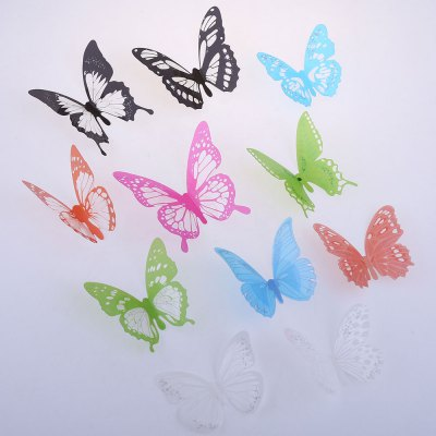 12Pcs 3D DIY Butterfly Wall Stickers